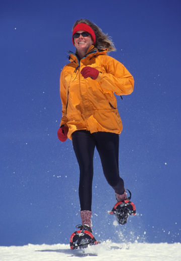Snowshoeing for winter fitness