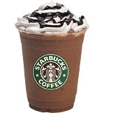 Grande Double Chocolaty Chip Frappuccino with whip and chocolate sauce