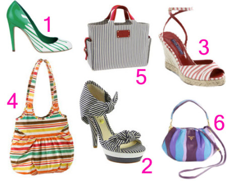 Striped Shoes & Bags