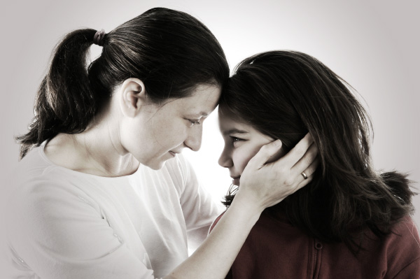 Woman Consoling Child
