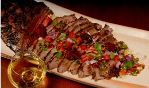 Flank steak with lime