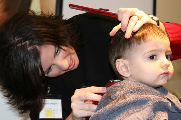 Toddler Getting Haircut