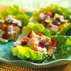 Tarragon turkey lettuce cups