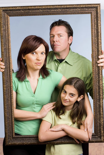 unhappy family portrait