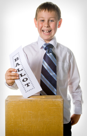 Boy with Ballot