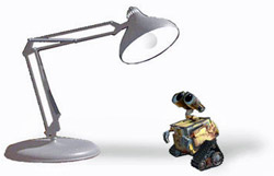 Luxo Jr and Wall-E