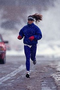 Keep warm when exercising outside