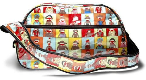 designer diaper bags from Cricket and Monkey