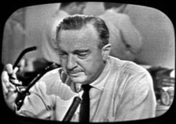 Cronkite cried on the air reading the news of President Kennedy's death