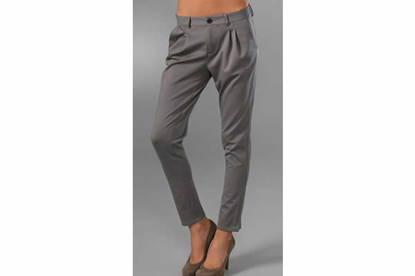 cropped gray pants