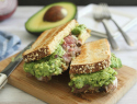 Dad-approved cheesy steak and guacamole sandwiches