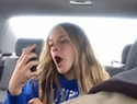 Dad catches daughter taking goofy selfies (VIDEO)
