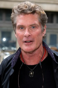 David Hasselhoff in London before his hospital visit