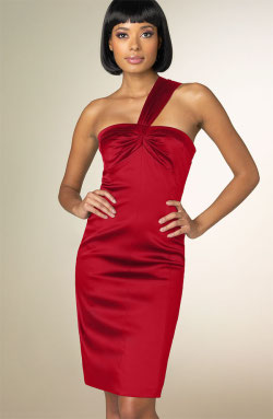 David Meister red sheath dress