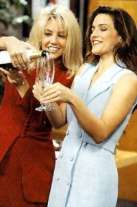 Heather Locklear and Kristin Davis