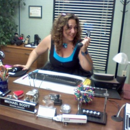 SheKnows Deanna in Michael Scott's Office