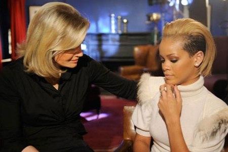 Rihanna visits Diane on GMA