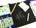 These DIY chalkboard lap mats will entertain your kids for hours