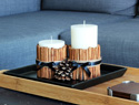 Upgrade simple vanilla candles with a cinnamon stick DIY
