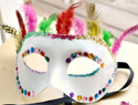 DIY decorated masquerade mask you can make in minutes