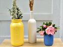 A Simple Step-by-Step DIY Guide to Spray-Painting Mason Jars