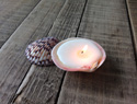 Turn seashells into beautiful candles with this easy DIY