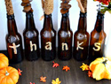 Drink up! A DIY Thanksgiving centerpiece from beer bottles