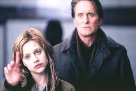 Brittany Murphy and Michael Douglas in the suspense thriller Don't Say A Word