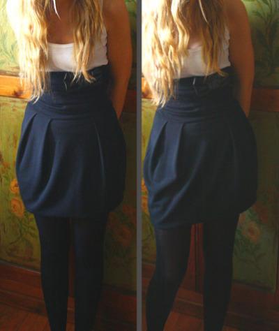 Dress worn as a skirt
