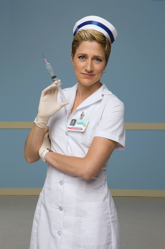 Edie Falco is Nurse Jackie