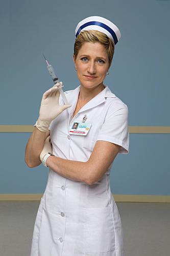Edie Falco is Nurse Jackie