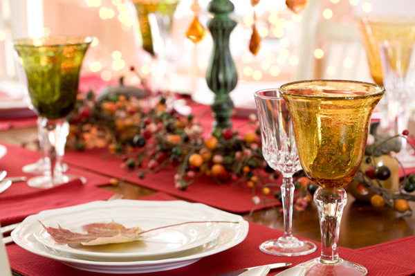 Elegant Holiday Place Setting