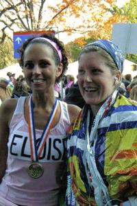 Eloise Caggiano at NYC Marathon