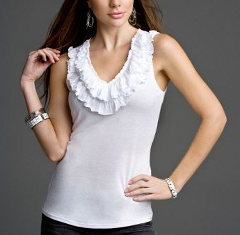 Express ruffle neck top