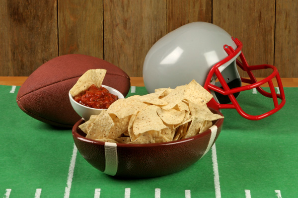 Football Salsa and Chips
