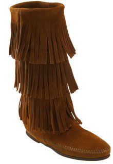 Fringed boot