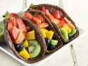 Fruit tacos with chocolate tortillas recipe
