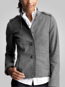 Gap ruffle-trimmed military jacket