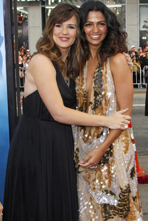 Jennifer Garner and Camila Alves at the Ghosts premiere