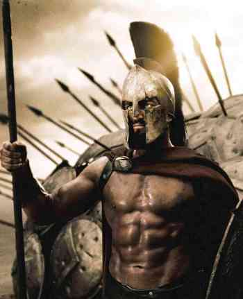 Gerard Butler in 300, the one that made him a star