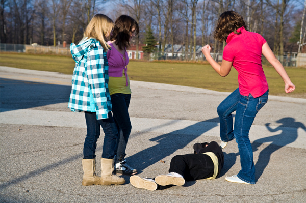 Girl fight at school