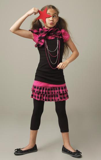 Girl with Plaid Skirt
