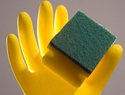 Cleaning kitchen sponges