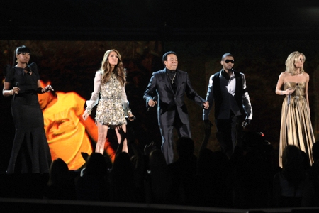 Jennifer Hudson, Celine Dion, Smokey Robinson, Usher and Carrie Underwood