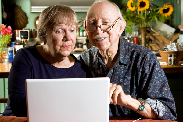 Grandparents at Computer