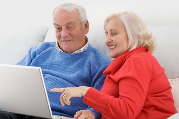Grandparents on the internet