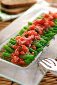 Green Bean & Tomato Salad with Citrus Basil Dressing