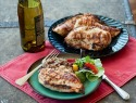 Grilled chardonnay chicken