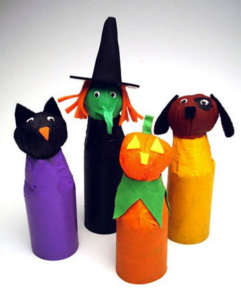 Halloween Craft Ideas Construction Paper on Materials Paper Towel Or Toilet Paper Rolls Paper Towels Masking