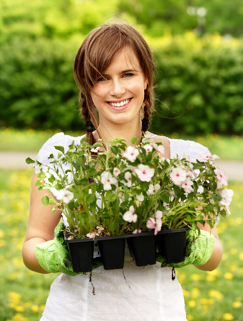 Happy Woman Gardening Japanese Garden Design